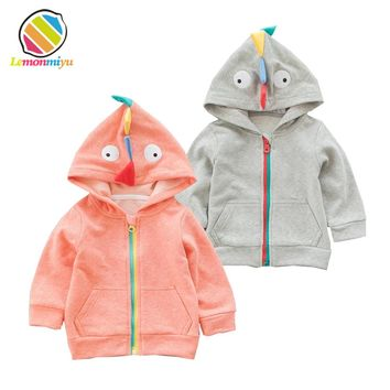 Baby Boys personality Dinosaur Hoodie Coat Sweatshirt Toddler Girls Outfit Kids Autumn Cotton Clothes Tops Coat Jacket Clothing