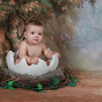 Just Hatched Cracked Egg, Photography Photo Prop,  Newborn prop, Baby prop, Nest,Egg prop,Egg photography prop