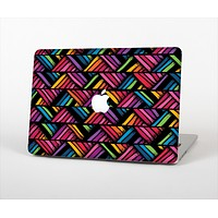 The Abstract Zig Zag Color Pattern Skin Set for the Apple MacBook Air 13""