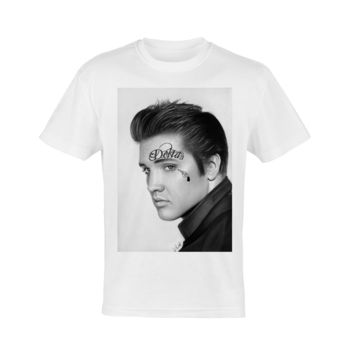 Elvis Tattoo Face Tee