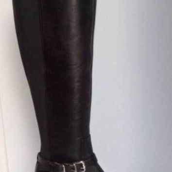 NEW DONALD J PLINER Nellie Leather Riding Boots in Black (Size 6 M)