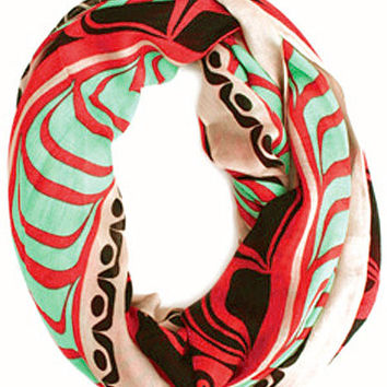 Elements of Tradition Infinity Bamboo Scarf designed by Ryan Cranmer, Namgis