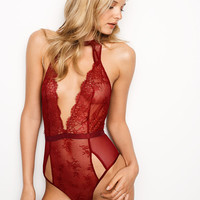 Cutout Chantilly Lace Plunge Teddy - Very Sexy - Victoria's Secret