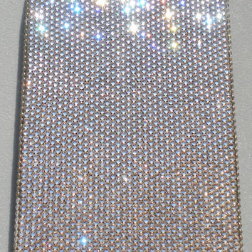 Exquisite Teenie Tiny 5ss Clear Crystal Diamond Rhinestone BLING Back Case for Apple iPhone 5 handmade using 100% Swarovski Elements