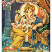 Lord Ganesha Giclee Print at Art.com