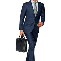 Suit Navy Check La Spalla P4222i | Suitsupply Online Store