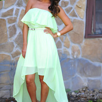 Take Me Anywhere Dress: Neon Green | Hope's