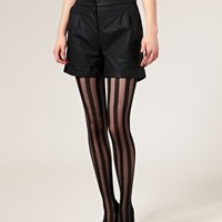 ASOS Solid Sheer Stripe Tights at asos.com
