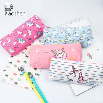 Cute Cartoon Animal Unicorn Pencil Cases/Case Box for School Girls