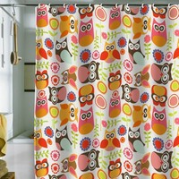 DENY Designs Valentina Ramos Cute Little Owls Shower Curtain, 69 by 72-Inch