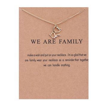 Cute Hollow Kitten Card Alloy Clavicle Pendant Necklace  171208