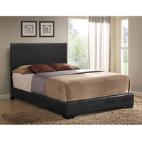 Walmart: Ireland Full Faux Leather Bed, Black
