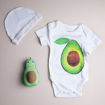 Estella Organic Cotton Baby Gift Set - Avocado 0–3, 3–6, 6–12, 12–18M