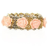 plus size antique rose stretch bracelet - debshops.com