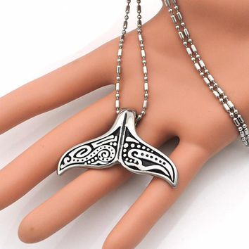 Whale Tail  Stainless Steel Necklace Chain pendant