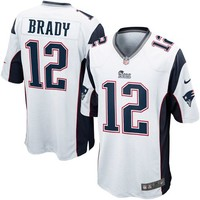 Nike Tom Brady New England Patriots Game Jersey - White