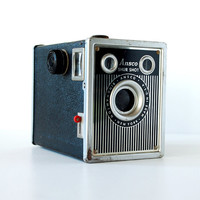 Vintage Camera 40's Ansco Shur Shot Box Camera 120 film