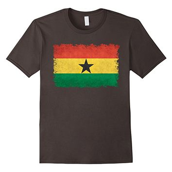 Ghana Flag T-Shirt in Vintage Retro Style