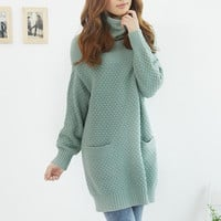 Hee Grand New Arrival Hot Sale Women Fashion Long Style Turtleneck Sweater Maternity Knitwear WZM741 = 1946260804