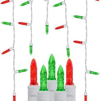 70 Red & Green M5 Icicles - Premium - LED Christmas Lights
