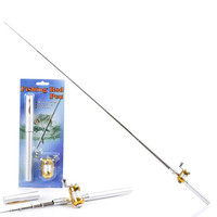 Mini Pocket Portable Aluminum Alloy Telescopic Pen Fishing Rod Pole White = 1705637828