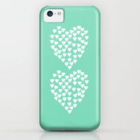 Hearts Heart x2 Mint iPhone & iPod Case by Project M