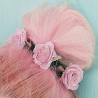 Floral Spike Bun Crown by NerdyLittleSecrets on Etsy