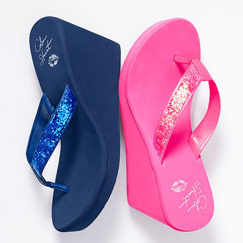 Glitter Wedge Flip-flop - Colin Stuart - Victoria's Secret
