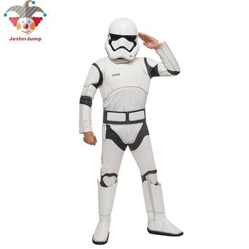 Cool Star Wars Costume for Boys The Force Awakens Storm Troopers Cosplay Halloween Costume for Kids Carnival Party Dress with MaskAT_93_12