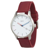 Neff - Esteban PU Watch - White/Maroon