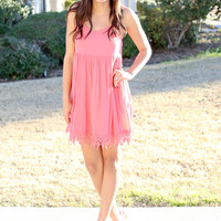 Babydoll Dress - Coral