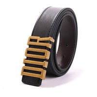 """Dior"" Unisex Fashion Personality Classic Multicolor Metal Needle Buckle Belt"