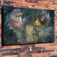 Beauty and The Beast Cartoons  Print Oil Painting on Canvas Wall Art Picture Home Decoration ( No Framed )