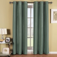 Soho Blue Grommet Blackout Window Curtain Panel