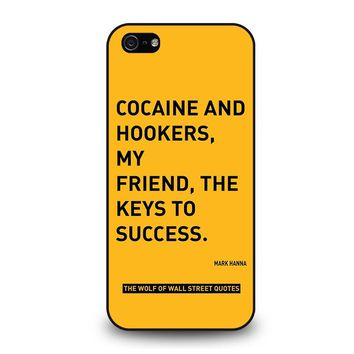 THE WOLF OF WALL STREET QUOTES iPhone 5 / 5S / SE Case Cover