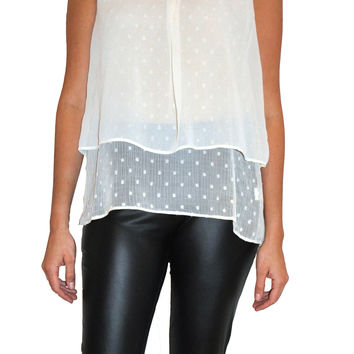 Dot Textured Layered Blouse