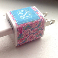 Monogrammed Charger Sticker by PreppyinPink3 on Etsy