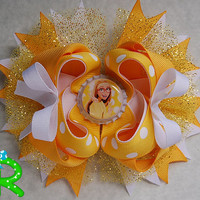 Honey Lemon Hair Bow , Big Hero 6 Boutique hair bow , Honey Lemon ott bow , layered bow, stacked Hair Bow