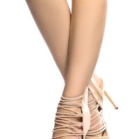 Nude Faux Suede Multi Strap Single Sole Heels @ Cicihot Heel Shoes online store sales:Stiletto Heel Shoes,High Heel Pumps,Womens High Heel Shoes,Prom Shoes,Summer Shoes,Spring Shoes,Spool Heel,Womens Dress Shoes