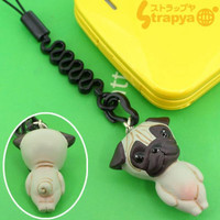 Pet Lovers Petite Dog Cell Phone Strap (Pug Gray)
