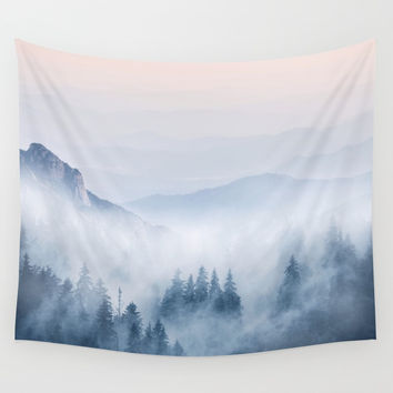 Pastel landscape 03 Wall Tapestry by vivianagonzalez