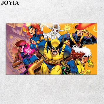 X MEN Superhero Marvel Poster Avengers Cyclops Gambit Wolverine Hero Comics Poster Canvas Art Kids Boy Room Wall Decor