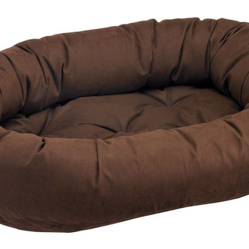 Leather-Like Donut Dog Beds