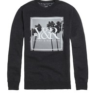 Young & Reckless Palm Paradise Crew Fleece - Mens Hoodie - Black