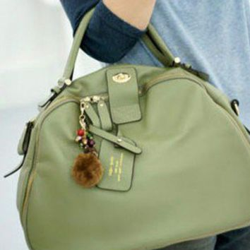 New Vintage Style Moss Green Casual Chic Leather Tote. Weekend Handbag | GlamUp - Bags & Purses on ArtFire