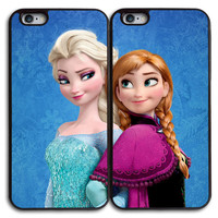 Elsa and Anna Frozen Matches Case for iPhone and Samsung Series,Two Differrent Phone Models Mixed OK