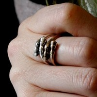 Silver Plated White Bronze Horse Hoof Ring, Jewelry :: Rings :: Clickin Cowgirls