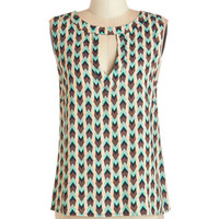 ModCloth Mid-length Sleeveless Cool and Curated Top