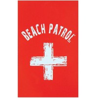 DCCK8UT Beach Patrol Velour Beach Towel