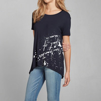 From Another Point of View Drapey Graphic Tee